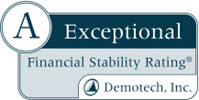 A - Exceptional Financial Stability Rating, Demotech